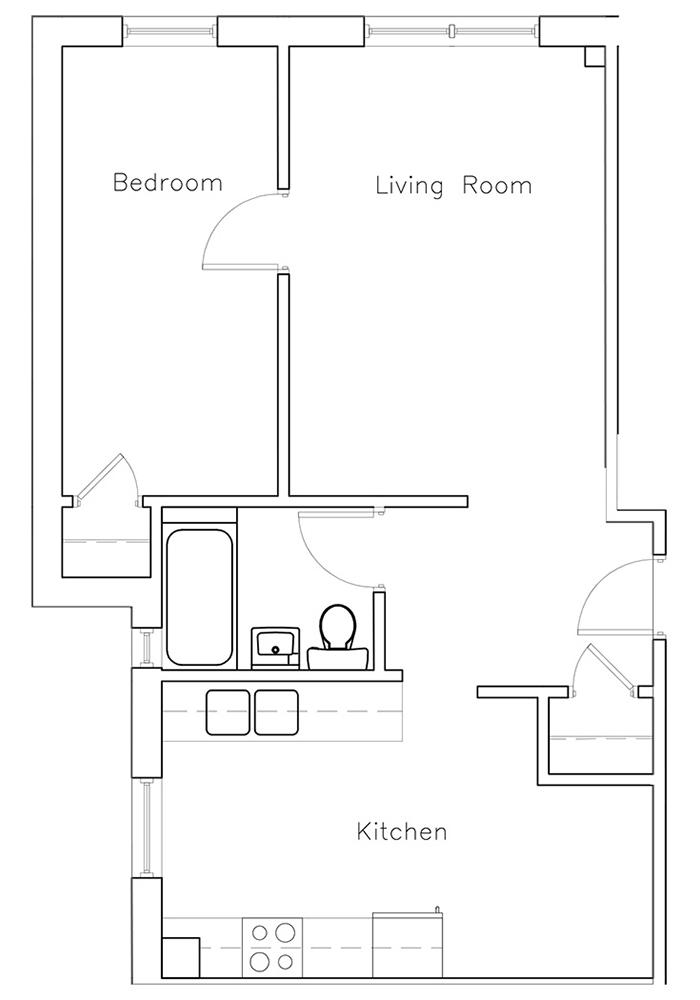 1 Bedroom Suite #2