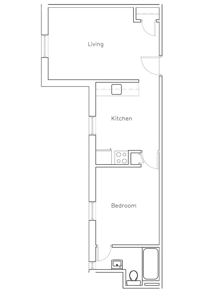 1 Bedroom Suite #16